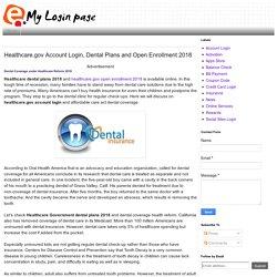 Healthcare.gov Account Login, Dental Plans and Open Enrollment 2018