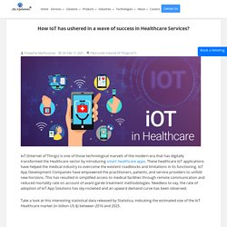 How IoT has ushered in a wave of success in Healthcare Services?