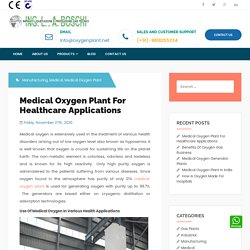 Medical Oxygen Plant For Healthcare Applications