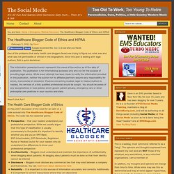The Healthcare Blogger Code of Ethics and HIPAA