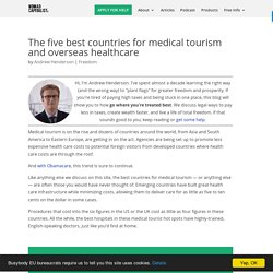 The five best countries for medical tourism and overseas healthcare
