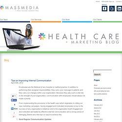 MassMedia Healthcare Marketing Blog » Tips on Improving Internal Communication