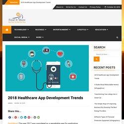 2018 Healthcare App Development Trends