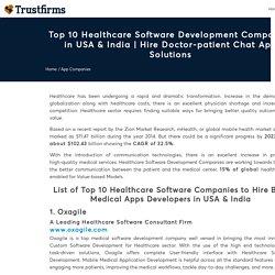Top 10 Healthcare Software Development Companies in USA