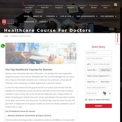 Healthcare Course for Doctors