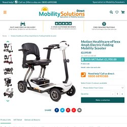 Motion Healthcare eFlexx 4mph Electric Folding Mobility Scooter – Mobility Solutions Direct 2018