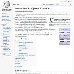 Healthcare in the Republic of Ireland