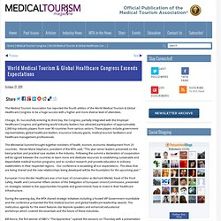 World Medical Tourism & Global Healthcare Congress Exceeds Expectations