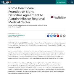 Prime Healthcare Foundation Signs Definitive Agreement to Acquire Mission Regional Medical Center