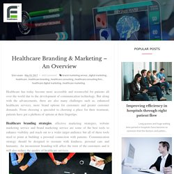 Healthcare Branding & Marketing – An Overview
