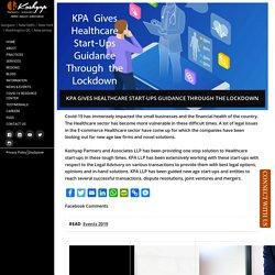 KPA GIVES HEALTHCARE START-UPS GUIDANCE THROUGH THE LOCKDOWN