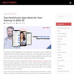 Healthcare App Ideas - Top 18 Unique Ideas For Healthcare Apps