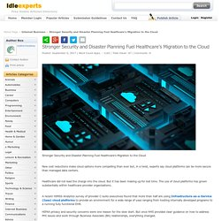 Healthcare's Migration to the Cloud - Solunus