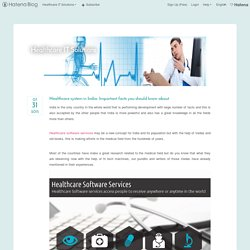 Healthcare system in India- Important facts you should know about - Healthcare IT Solutions