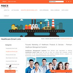 Healthcare Industry Email Lists