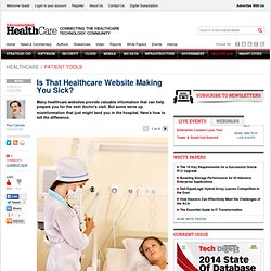 Is That Healthcare Website Making You Sick? -- InformationWeek