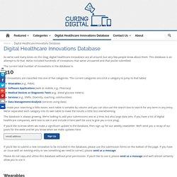 Digital Healthcare Innovations Database - Curing Digital