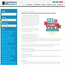 Healthcare IT Leaders Announces the 2014 Best Healthcare IT Blogs