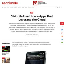 3 Mobile Healthcare Apps that Leverage the Cloud - ReadWriteCloud