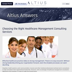Choosing the Right Healthcare Management Consulting Services