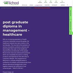 PGDM in Healthcare Management Course in Mumbai - Full Time Course - WeSchool - Welingkar