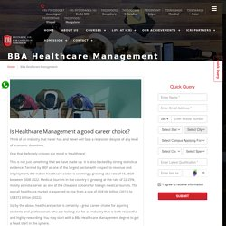BBA Healthcare Management Course in Delhi, India - ICRIIndia
