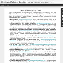 Healthcare Marketing Blogs: The List