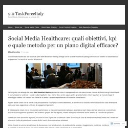Social Media Healthcare: quali obiettivi, kpi e quale metodo per un piano digital efficace?