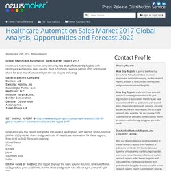 Healthcare Automation Sales Market 2017 Global Analysis, Opportunities and Forecast 2022