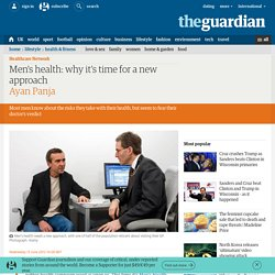 Men's health: why it's time for a new approach