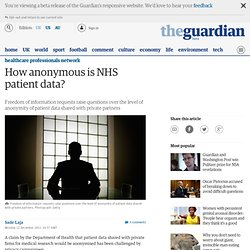How anonymous is NHS patient data?