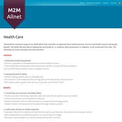 HealthCare Service Providers – Solutions @M2M-Allnet