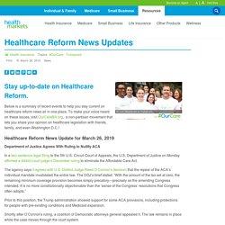 Healthcare Reform News Updates