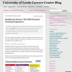 Healthcare Science: The NHS Scientist Training Programme