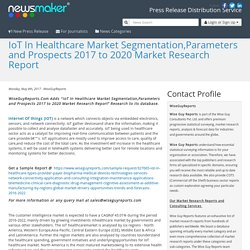 IoT In Healthcare Market Segmentation,Parameters and Prospects 2017 to 2020 Market Research Report