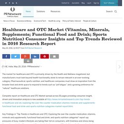 Healthcare and OTC Market (Vitamins, Minerals, Supplements; Functional Food and Drink; Sports