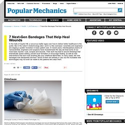 New Bandages Latest in Healthcare Technology - High Tech Bandages and Band-Aids