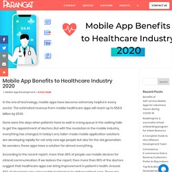 Mobile App Benefits to Healthcare Industry 2020