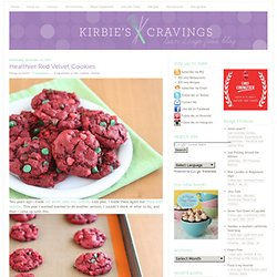 Healthier Red Velvet Cookies