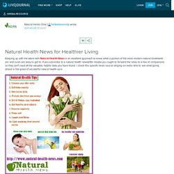Natural Health News for Healthier Living: herbalresource