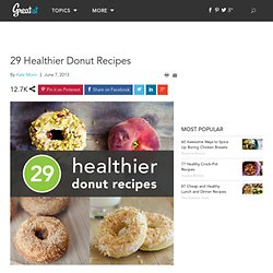 29 Healthier Donut Recipes