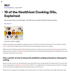 10 of the Healthiest Cooking Oils for Baking, Sautéing, and Drizzling