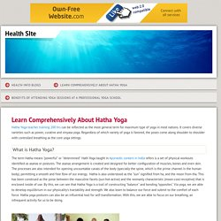 Learn Comprehensively About Hatha Yoga