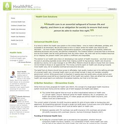 Jeremy: HealthPAC » Health Care Solutions