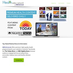 Health Care News & Information, Daily Videos | Nutrition, Diet Info for Men, Women & Children | HealthVideo.com