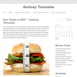 Top 10 Healthy Food – Anthony Tornmabe