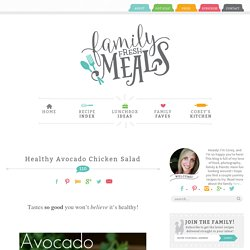Healthy Avocado Chicken Salad