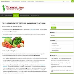 Best Healthy and Balanced Diet Plans