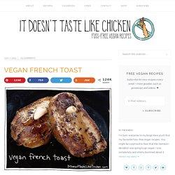 Easy Healthy Breakfast - Coconut Banana Vegan French Toast