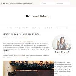 Healthy Brownie Cookie Dough Bars (Vegan and Gluten Free)
